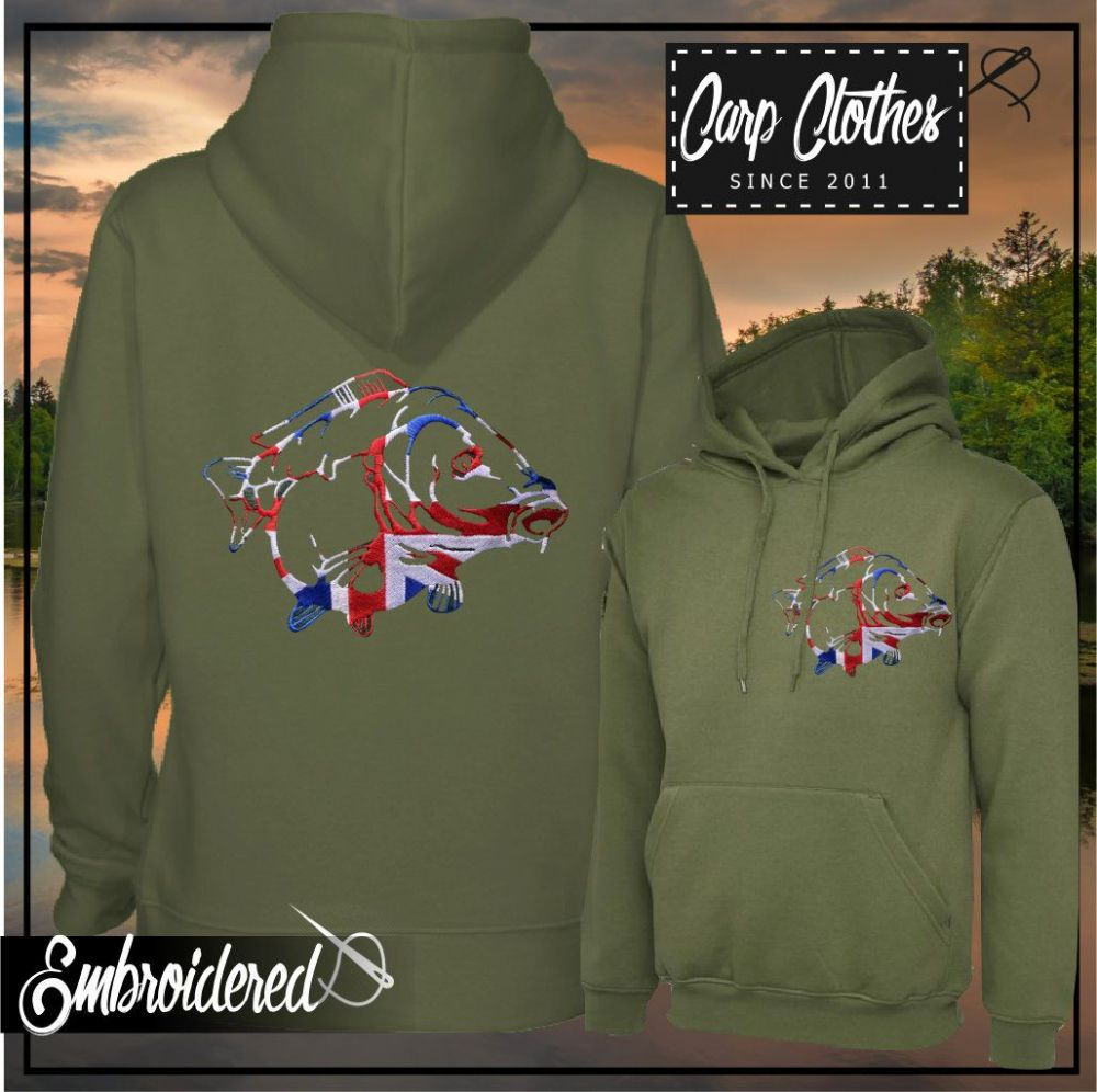 034 EMBROIDERED CARP HOODIE